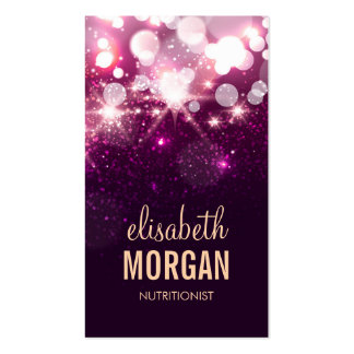 Dietitian Nutritionist - Pink Glitter Sparkles Pack Of Standard Business Cards