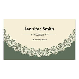 Dietitian Nutritionist - Retro Chic Lace Business Cards
