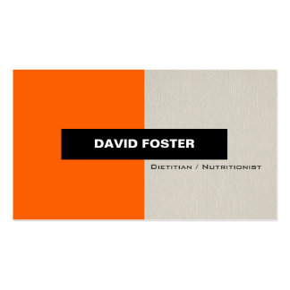 Dietitian / Nutritionist - Simple Elegant Stylish Business Card