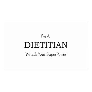 DIETITIAN PACK OF STANDARD BUSINESS CARDS