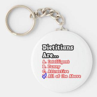Dietitian Quiz...Joke Basic Round Button Key Ring
