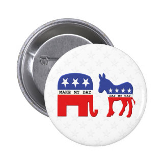Difference Between Republicans and Democrats Funny Pins