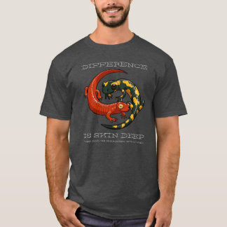 Difference Is Skin Deep Smiling Salamander Cartoon T-Shirt