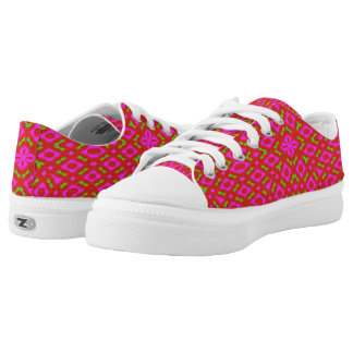 Different abstract pattern low tops