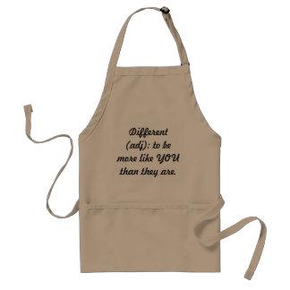 Different (adj) standard apron