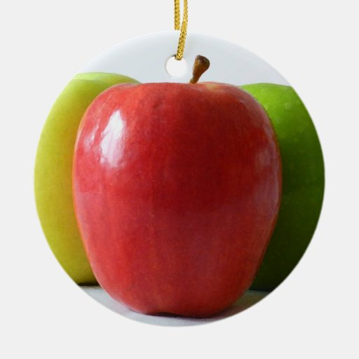Different Apples Christmas Ornament