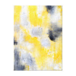 'Different' Black and Yellow Abstract Art Canvas Prints