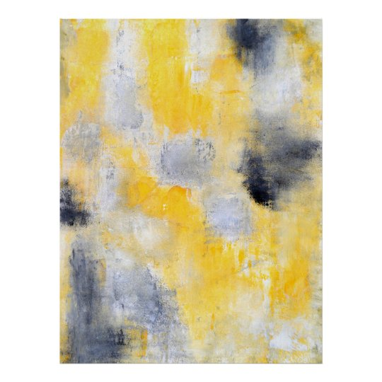 'Different' Black and Yellow Abstract Art Print