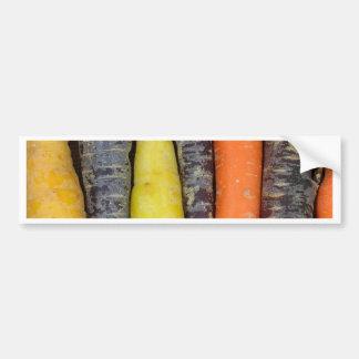 Different colored carrots bumper sticker