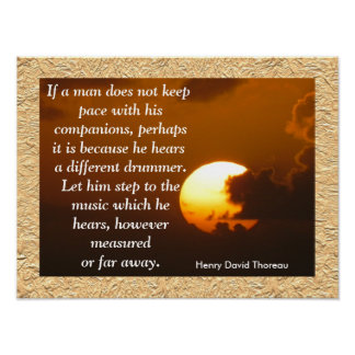Different Drummer - Thoreau quote poster