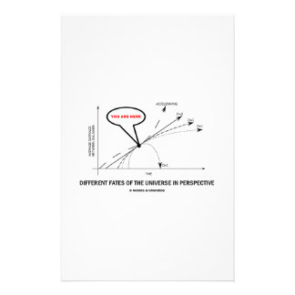 Different Fates Of The Universe In Perspective Customized Stationery