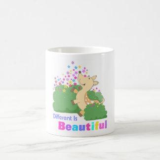 different is beautiful basic white mug