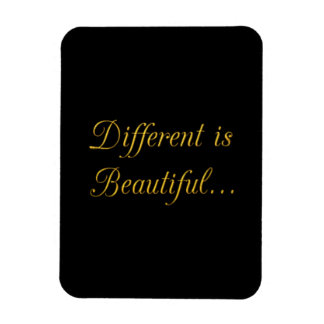 DIFFERENT IS BEAUTIFUL CAUSES MOTIVATIONAL QUOTES RECTANGULAR PHOTO MAGNET