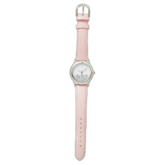 Different is Beautiful Elegant Flower Doodle Watch