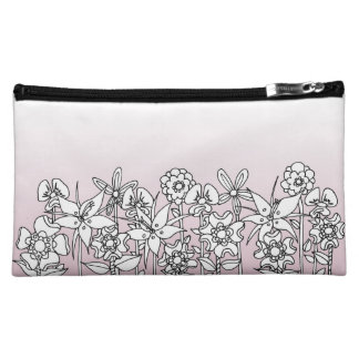 Different is Beautiful Floral Cosmetics Bag
