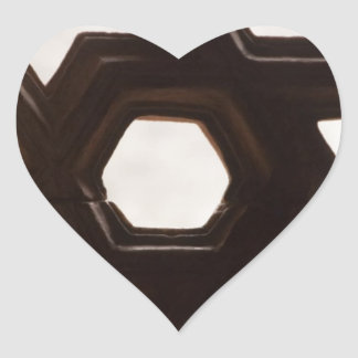 Different shapes of holes heart sticker
