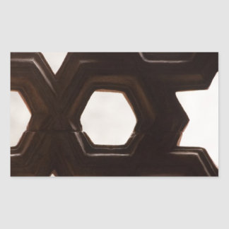 Different shapes of holes rectangular sticker