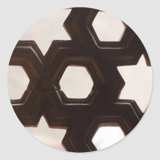 Different shapes of holes round sticker