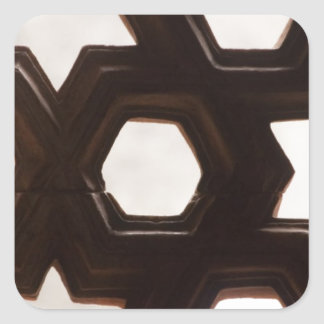 Different shapes of holes square sticker