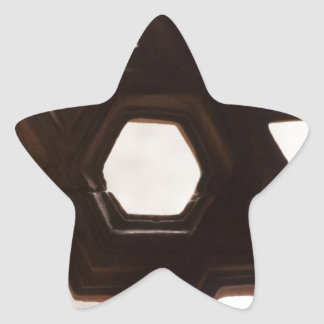 Different shapes of holes star sticker