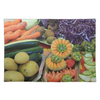 Different sorts of Crudités on a french market Placemat