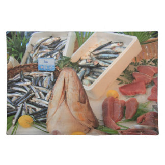 Different sorts of fish placemat