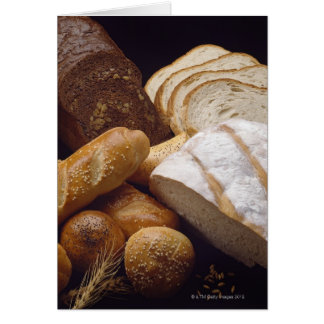 Different types of artisan bread card