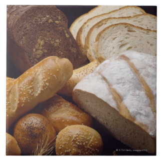 Different types of artisan bread tile