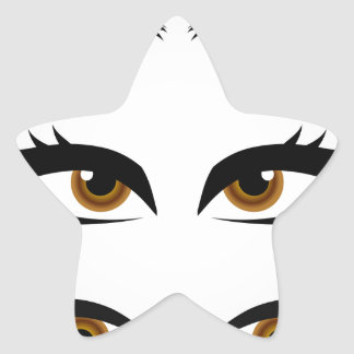 Different types of womens eyes star sticker