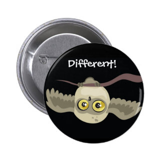 Different Upsidown Owl Button