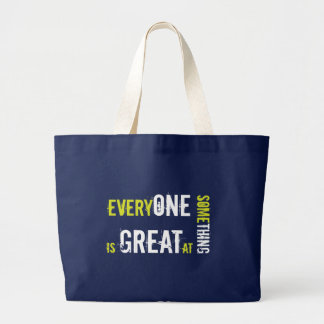 Differently Abled, Autism, Special Education Large Tote Bag