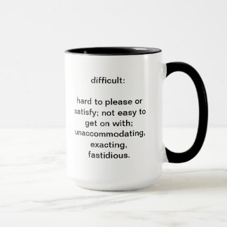 Difficult definition mug