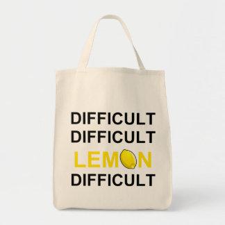 'Difficult, Difficult, Lemon, Difficult' Bags
