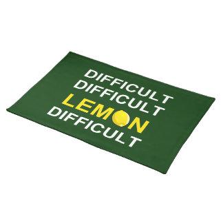 'Difficult, Difficult, Lemon, Difficult' Placemat