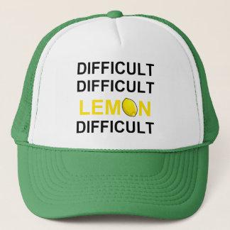 'Difficult, Difficult, Lemon, Difficult' Trucker Hat