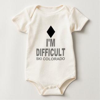 Difficult Ski Colorado Baby Bodysuit
