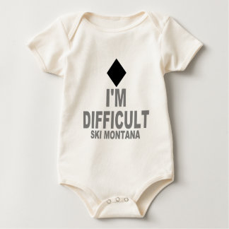 Difficult Ski MONTANA Baby Bodysuit