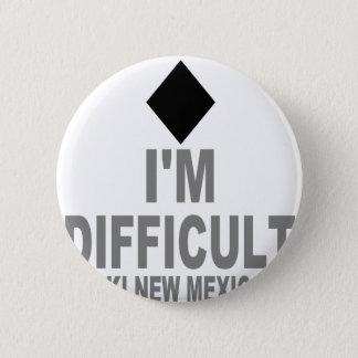 Difficult Ski NEW MEXICO 6 Cm Round Badge