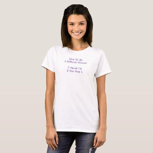 Difficult Woman Blackboard T-Shirt