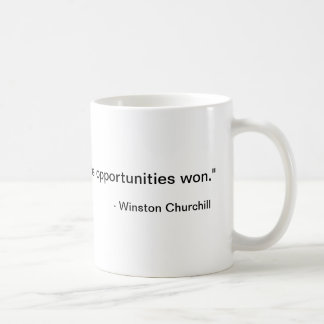 """""""Difficulties mastered are opportunities won."""",... Basic White Mug"""