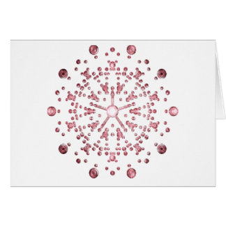 Diffraction pattern greeting card