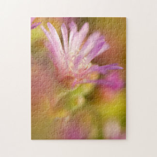 Diffused Image Of A Colorful Succulent Flower Jigsaw Puzzle