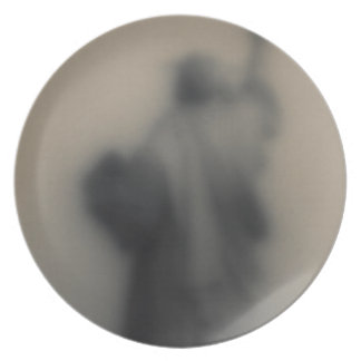 Diffused image of the Statue of Liberty Plate