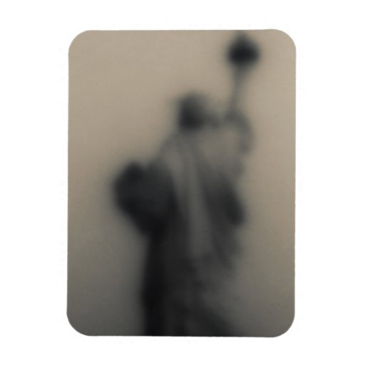 Diffused image of the Statue of Liberty Magnet