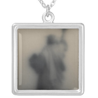 Diffused image of the Statue of Liberty Silver Plated Necklace