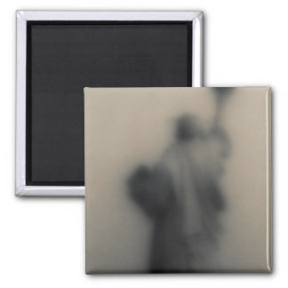 Diffused image of the Statue of Liberty Square Magnet