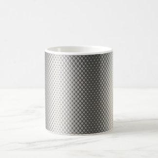 Diffusion of Flourescent Light on Metallic Texture Basic White Mug