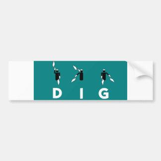 DIG Bumper Sticker