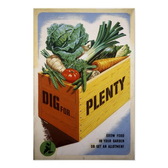 Dig For Plenty - Fruit and Veg Poster