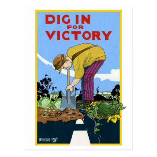 Dig In For Victory Postcard